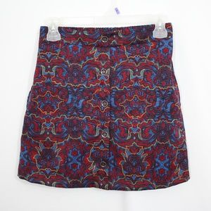 Lush Red and Blue Mini Skirt Size Small
